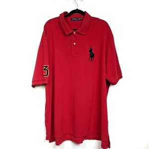 Polo Ralph Lauren Big Pony Red Short Sleeve Vented